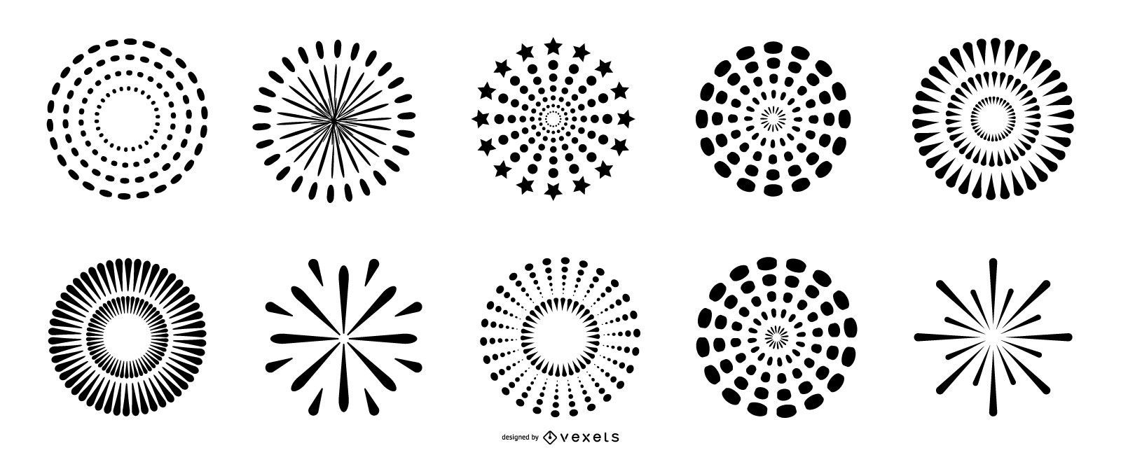 Fireworks silhouette collection