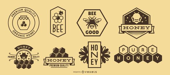 Paquete de logo de miel