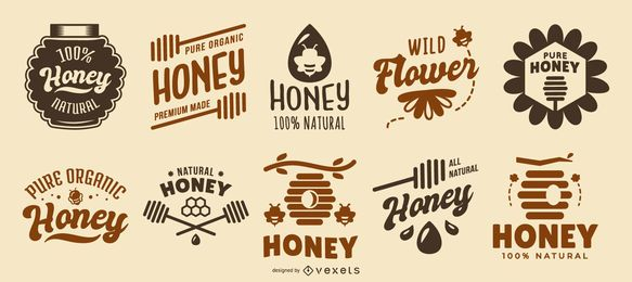 Honig-Zitat-Logosammlung