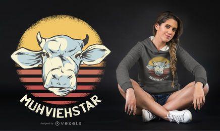 Diseño de camiseta Muhviestar