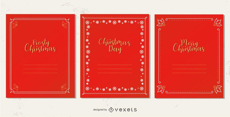 Elegant christmas card frames set