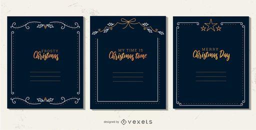Conjunto simple de marcos de navidad