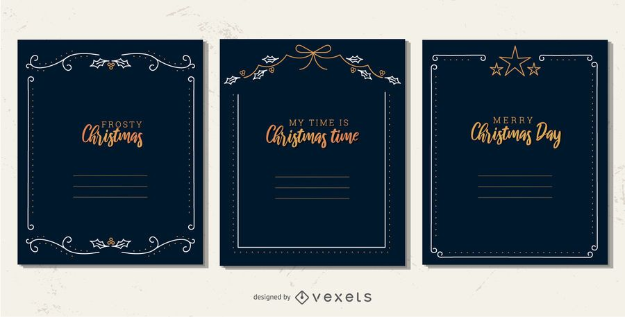 Conjunto de quadros de Natal simples