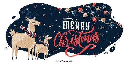 Frohe Weihnachten grafische Illustration