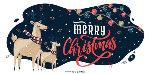 Merry christmas graphic illustration