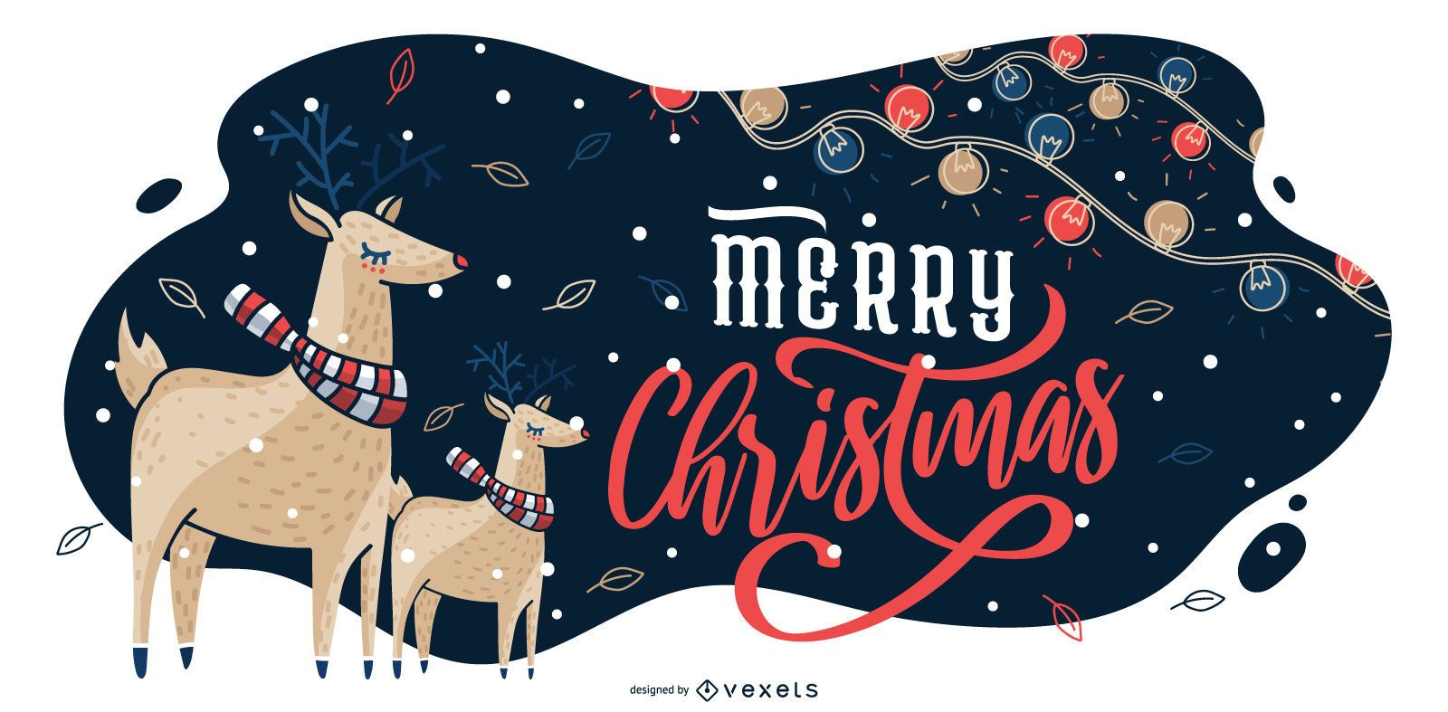 Ilustración gráfica de feliz navidad