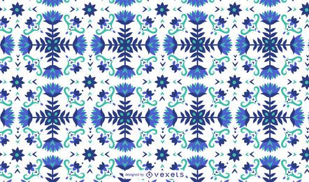 Floral blue pattern design