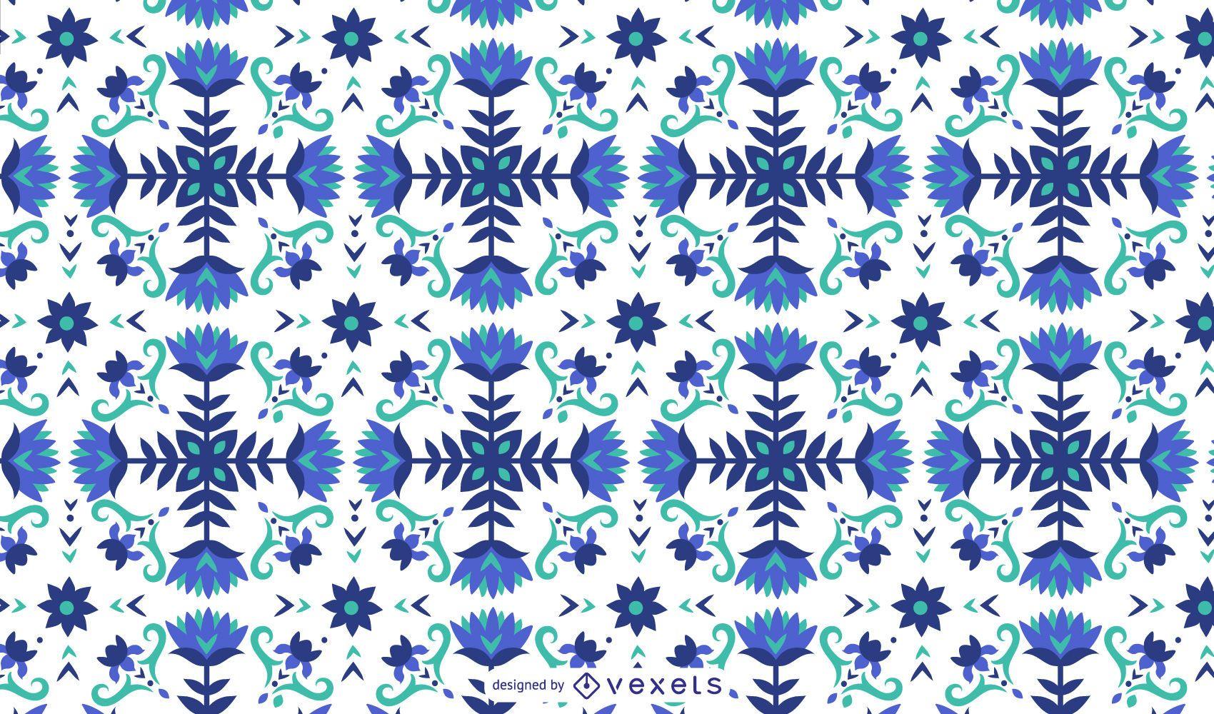 Floral blue pattern design