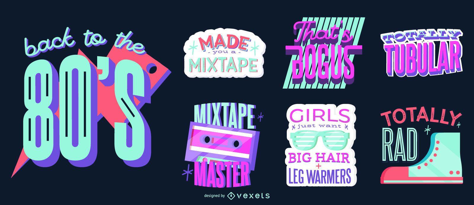 Conjunto de letras dos anos 80