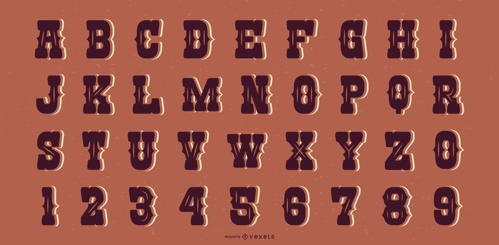 Western Saloon Style Alphabet Letter Collection