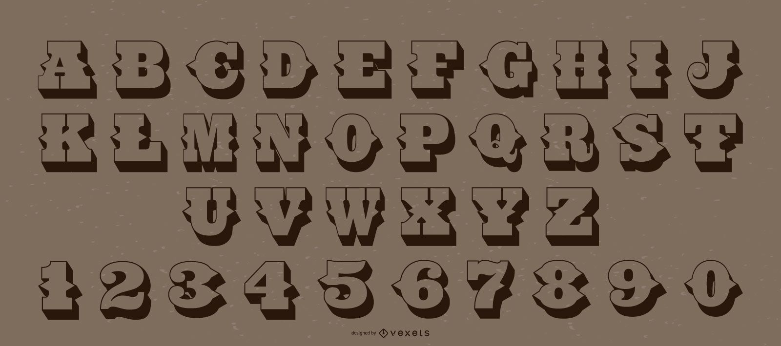 Western Style Alphabet Letter Number Pack
