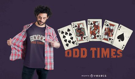 Design de camiseta de pôquer com cartas da sorte
