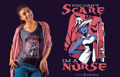 Não pode me assustar design de t-shirt