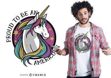 Design orgulhoso do t-shirt de americorn