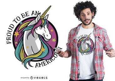 Proud americorn t-shirt design