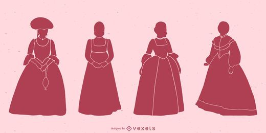 Classical Women Silhouette Pack