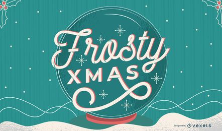 Design de letras de Natal gelado
