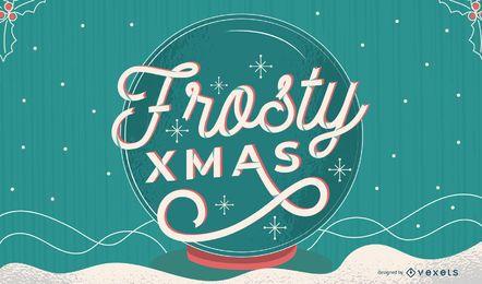 Diseño de letras de Navidad escarchada
