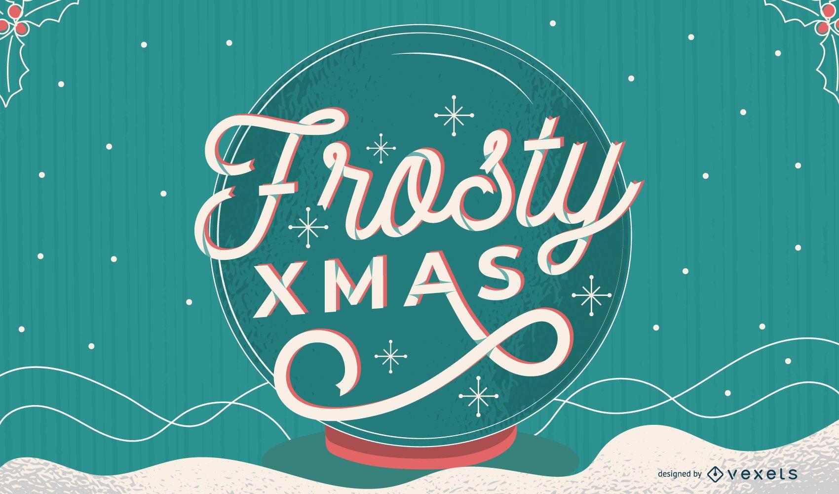 Frosty xmas lettering design