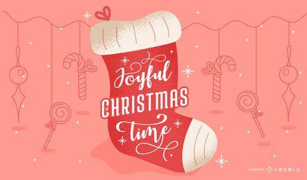 Diseño alegre de letras navideñas