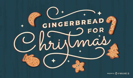 Gingerbread christmas lettering