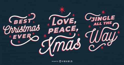 conjunto de letras de navidad