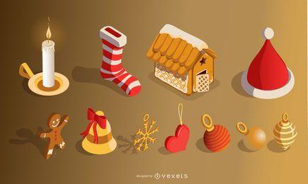 Weihnachtselemente setzen 3D