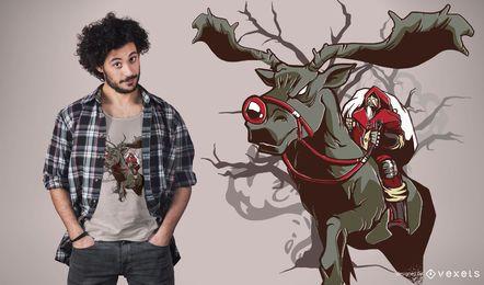 Dark santa rudolph t-shirt design