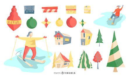 Colección de vectores de navidad