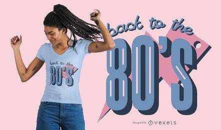Diseño de camiseta de regreso a los 80