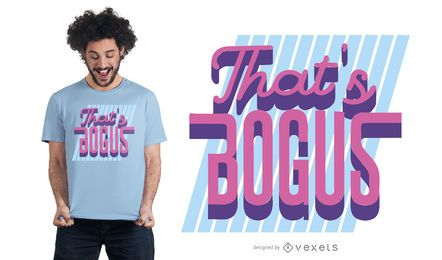 Das ist falsches T-Shirt Design