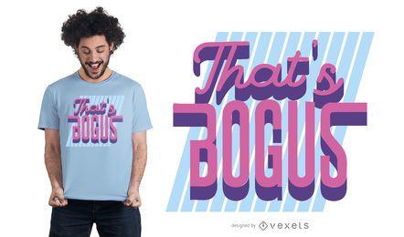 Isso é design de t-shirt falso