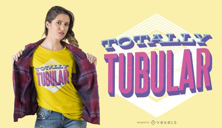 Design de camiseta totalmente tubular