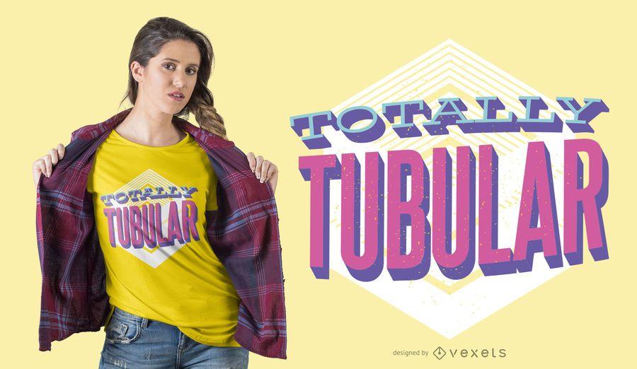 Total schlauchförmiges T-Shirt Design