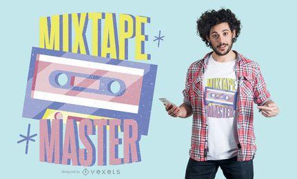Diseño de camiseta mixtape master