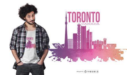 Diseño de camiseta del horizonte de Toronto, Canadá
