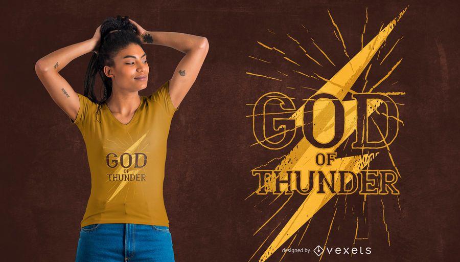 Diseño de camiseta de dios del trueno