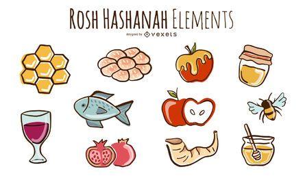 Conjunto de garabatos de Rosh Hashaná