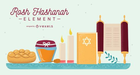 Conjunto de elementos de Rosh Hashaná