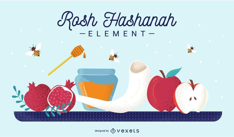 Rosh Hashanah element set