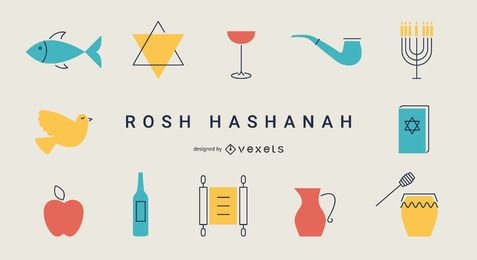 Rosh Hashanah flat elements