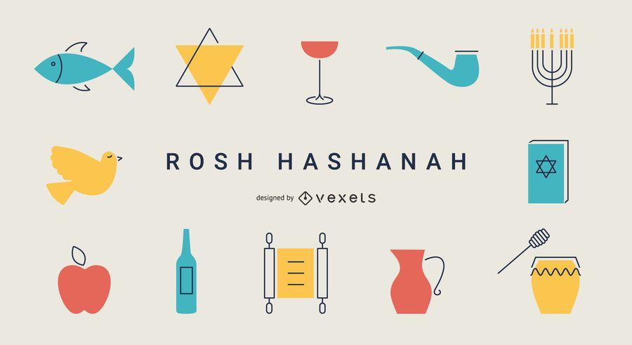 Rosh Hashanah flat elements