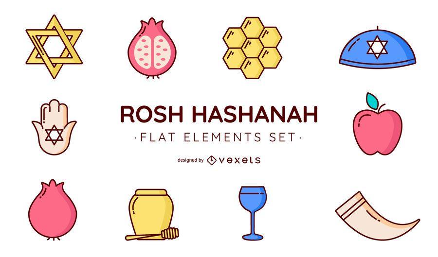 Rosh Hashanah vector set