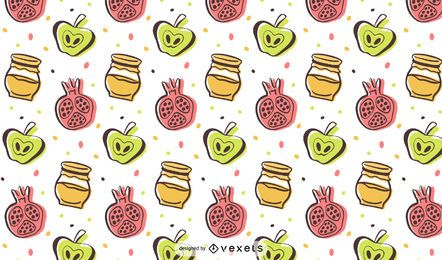 Rosh Hashanah colorful pattern