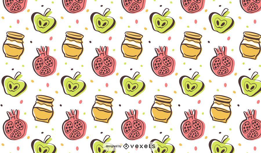 Rosh Hashanah colorful pattern