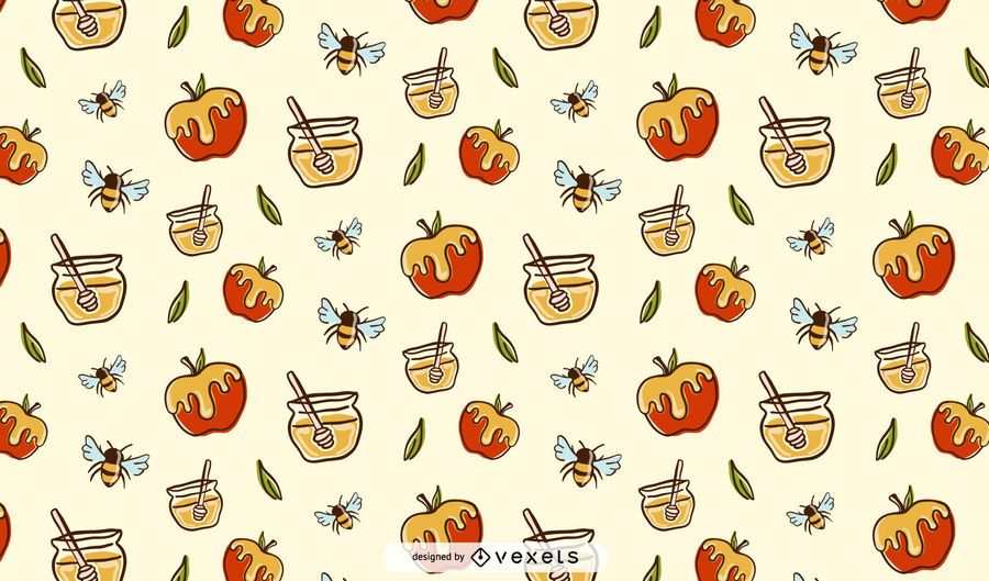 Apples and honey pattern design