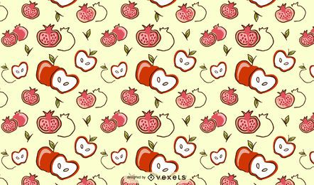 Apple pomegrate pattern design