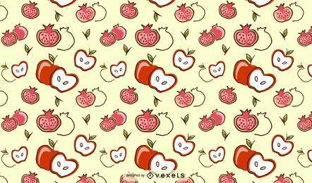 Design de padrão de maçã romã