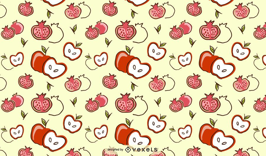 Design de padrão de maçã pomegrate