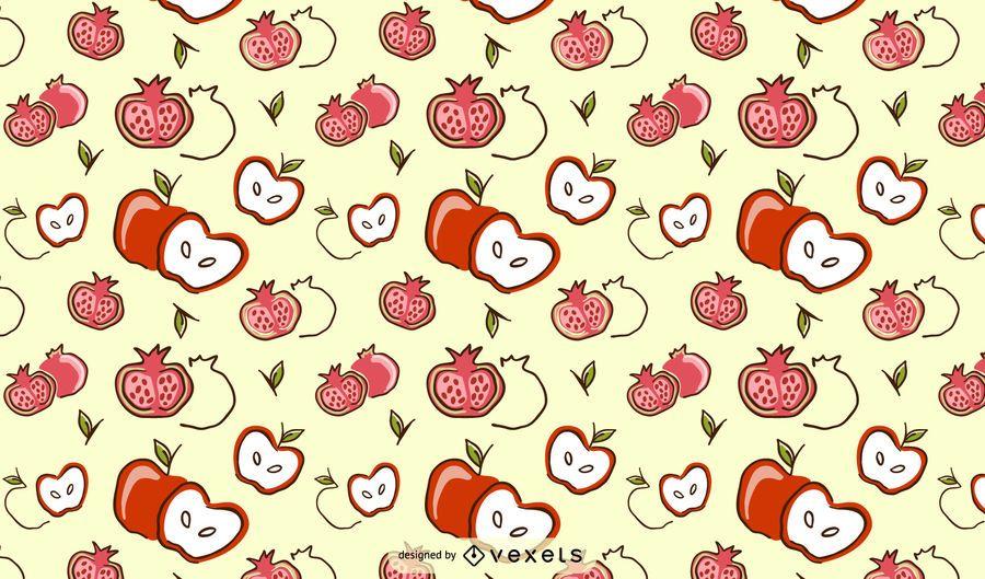 Diseño de patrón de granada de manzana